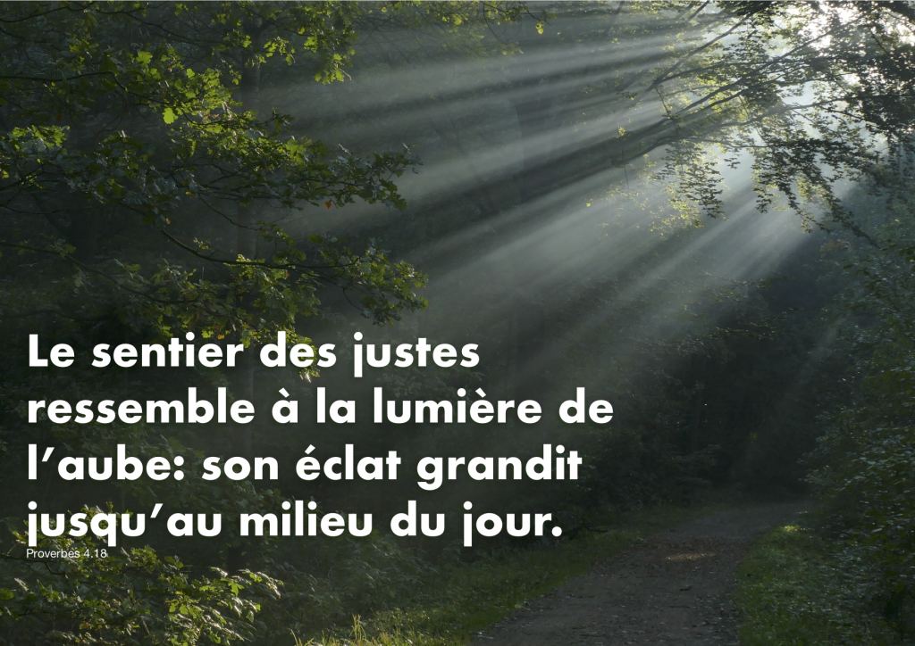 Proverbes 4.18